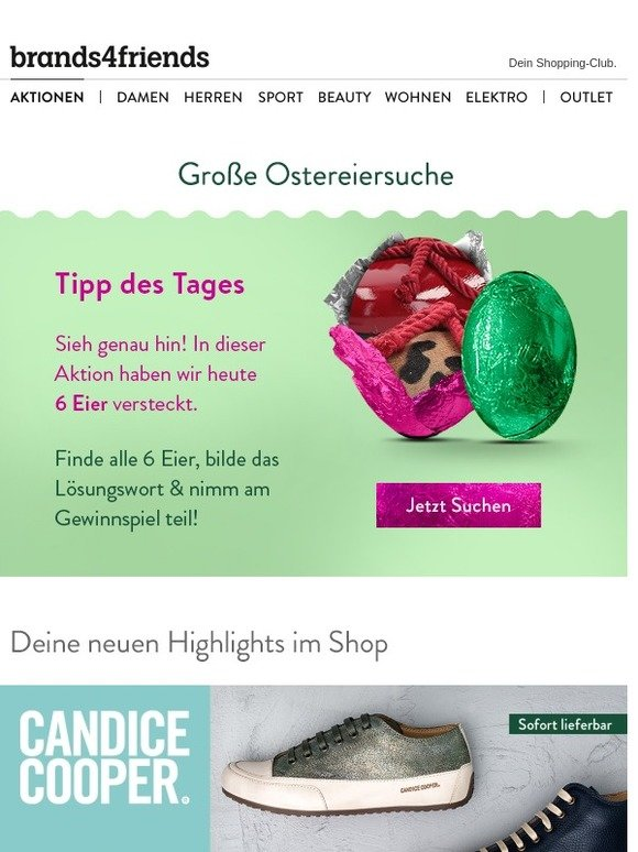 brands4friends DE: Candice Cooper, Trägt sich leicht, Smarte