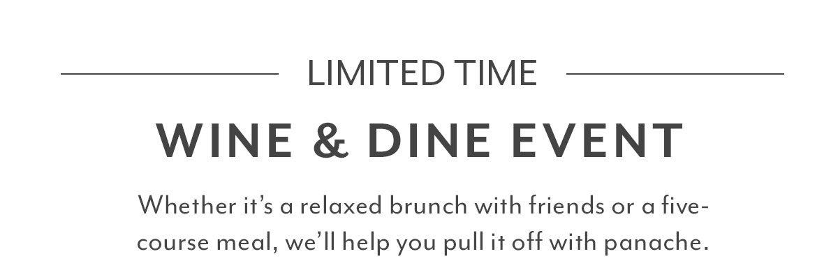 Wine & Dine Event