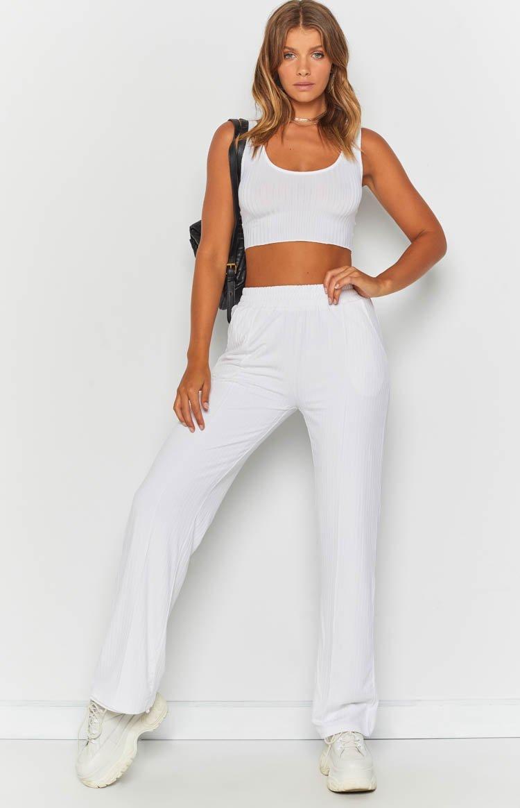 Sundial Pants White