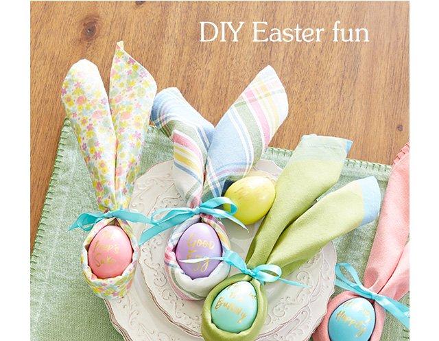 See Easter napkin ideas