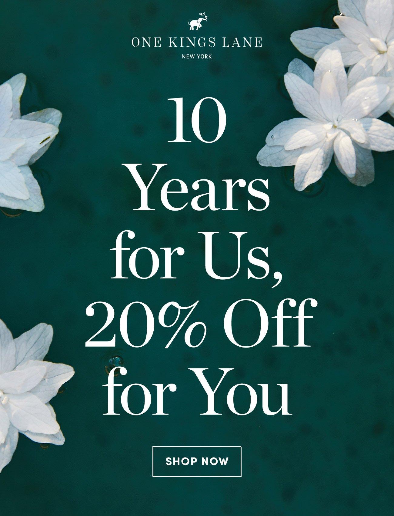 SAVE 20% sidewide   Shop Now >