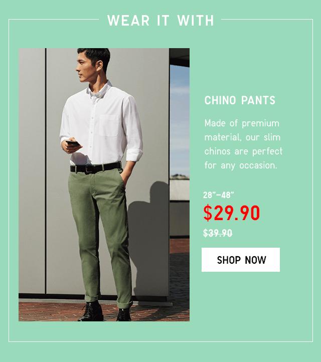 BODY8 - MEN CHINO PANTS