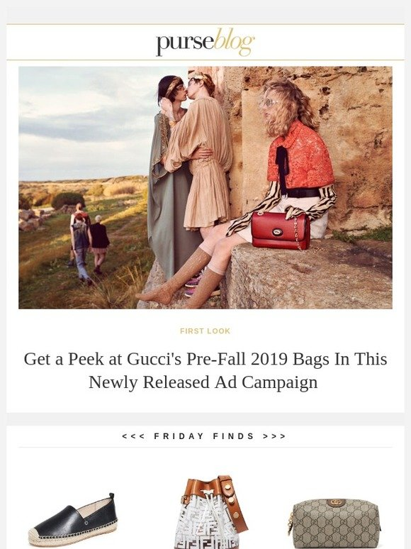 5abf256fd736 PurseBlog: Your First Look at Gucci's Pre-Fall 2019 Ad Campaign | Milled