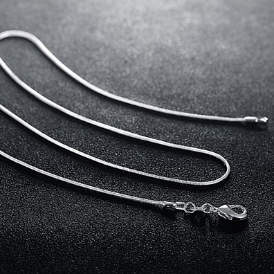 Buy One, Get One Italian-Made Silver Chains, Multiple Lengths