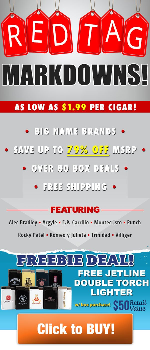 Holt's Cigar Company: 🤗Red Tag Sale: Up to 79% off over 80