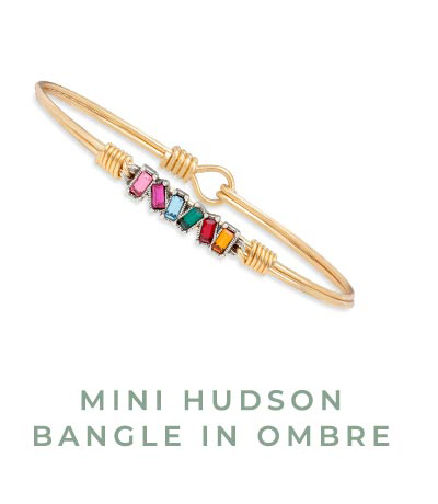 MINI HUDSON BANGLE IN OMBRE