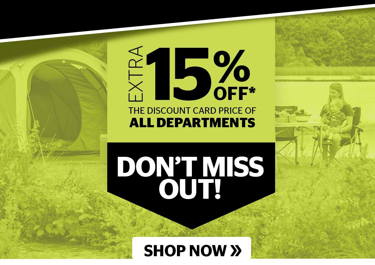 15% off All Depts