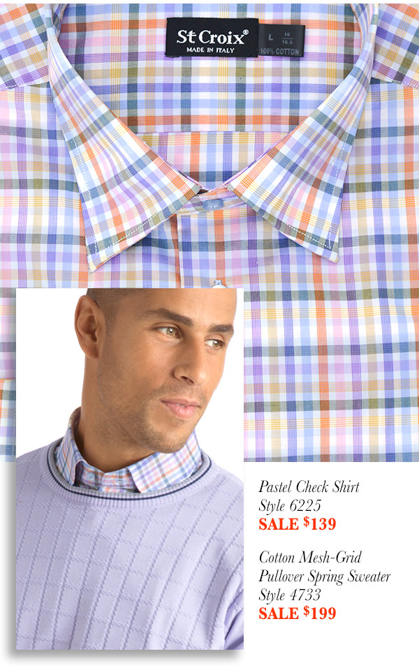 Soft Check Sport Shirt - Style 6225