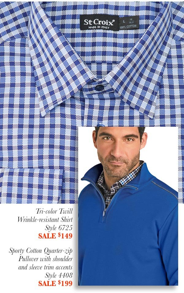 Twill Check Sport Shirt - Style 6725