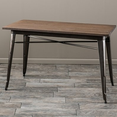 Titus Mocha Brown Elm Wood Table