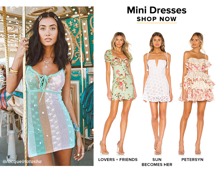 You Need These in Your Closet: Mini Dresses. Shop Now.