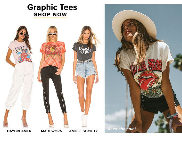 You Need These in Your Closet: Graphic Tees. Shop Now.