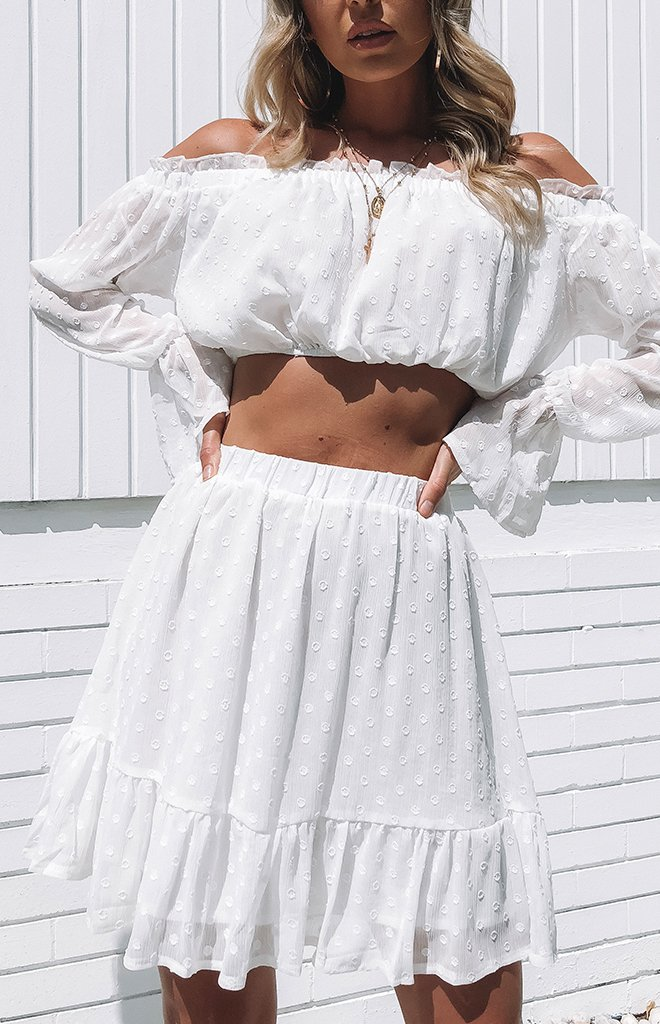 Tequila Touch Skirt White