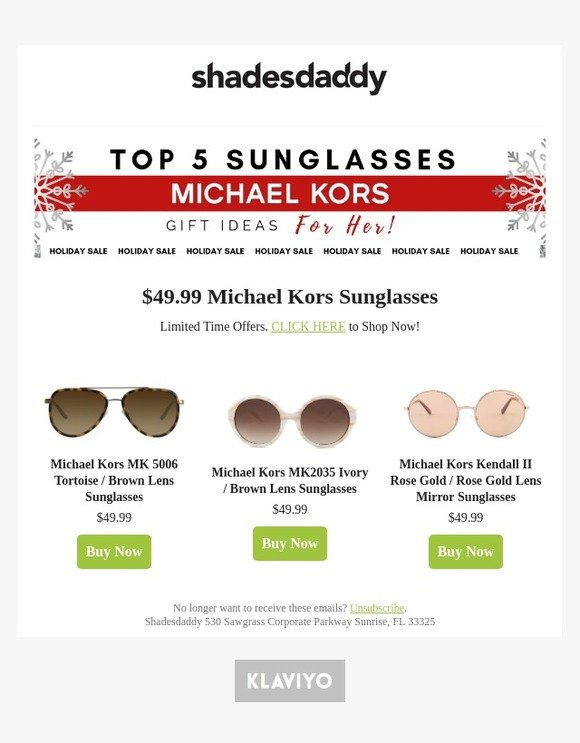 38fb03350 shadesdaddy.com: Michael Kors Sale Only $49.99 - Limited Quantities  Available - Shop Now | Milled