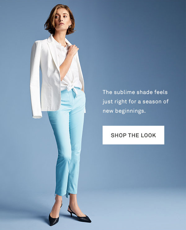 The sublime shade feels just right for a season of new beginnings. - [Shop the look]