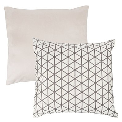 Accent Throw Pillow 18 Inch Triangle Geometric Soft Backing Removable Cover Taupe