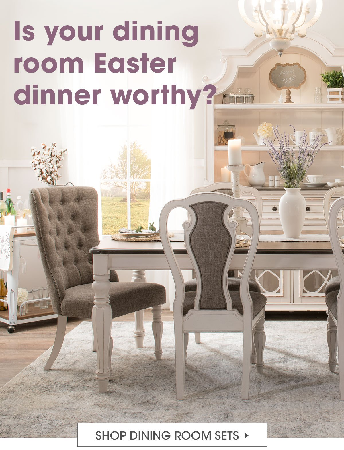 Bobs Discount Furniture Is Your Dining Room Easter Dinner Worthy Milled