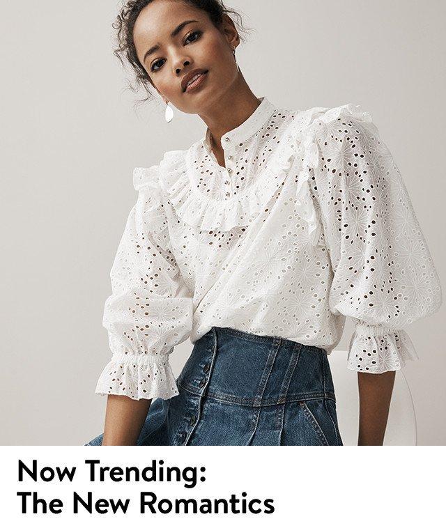 Now trending: romantic tops for women.
