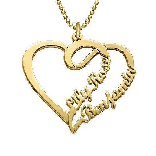 Paar-Herzkette mit Vergoldung