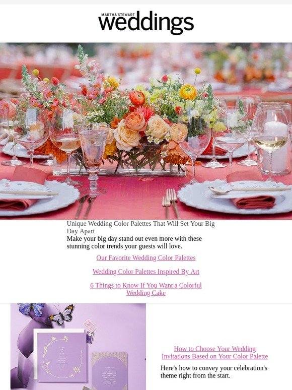 Martha Stewart Weddings How To Pick Your Perfect Wedding