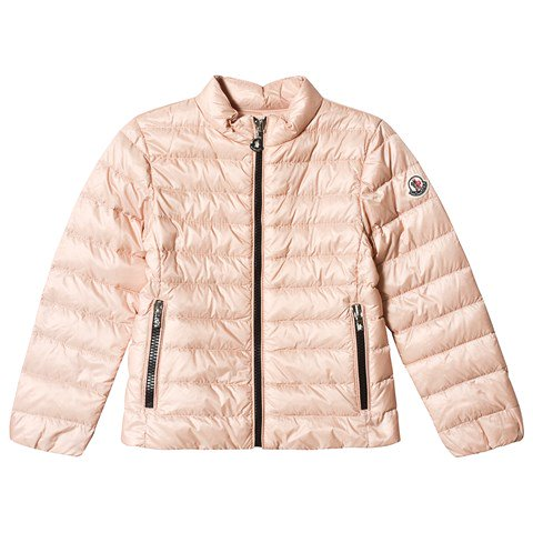 Moncler Pale Pink Kaukura Collarless Down Jacket