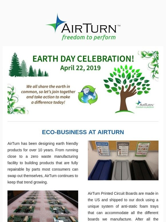 AirTurn (US): Earth Day Celebration! | Milled