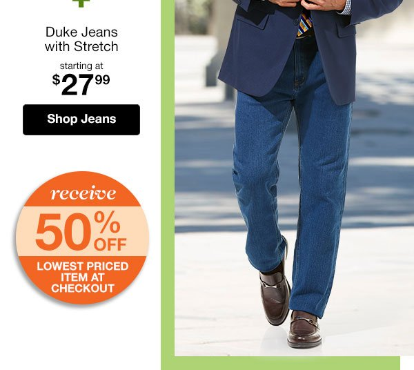 Shop Men's Duke Jeans with Stretch!