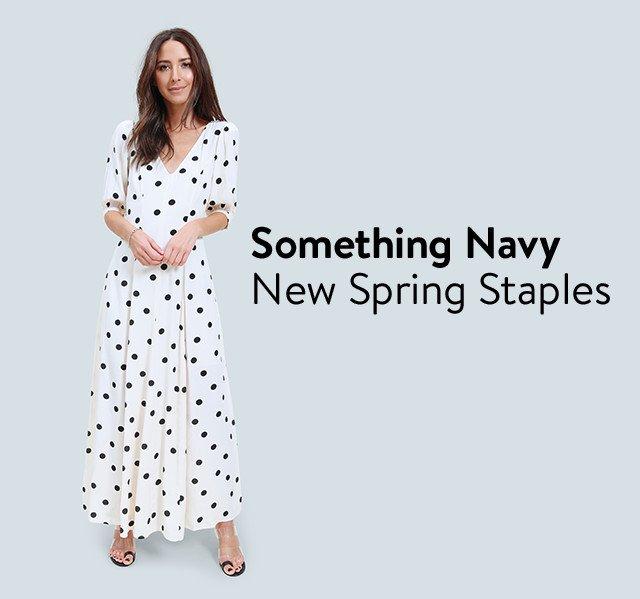 Something Navy: new spring staples for women and girls.