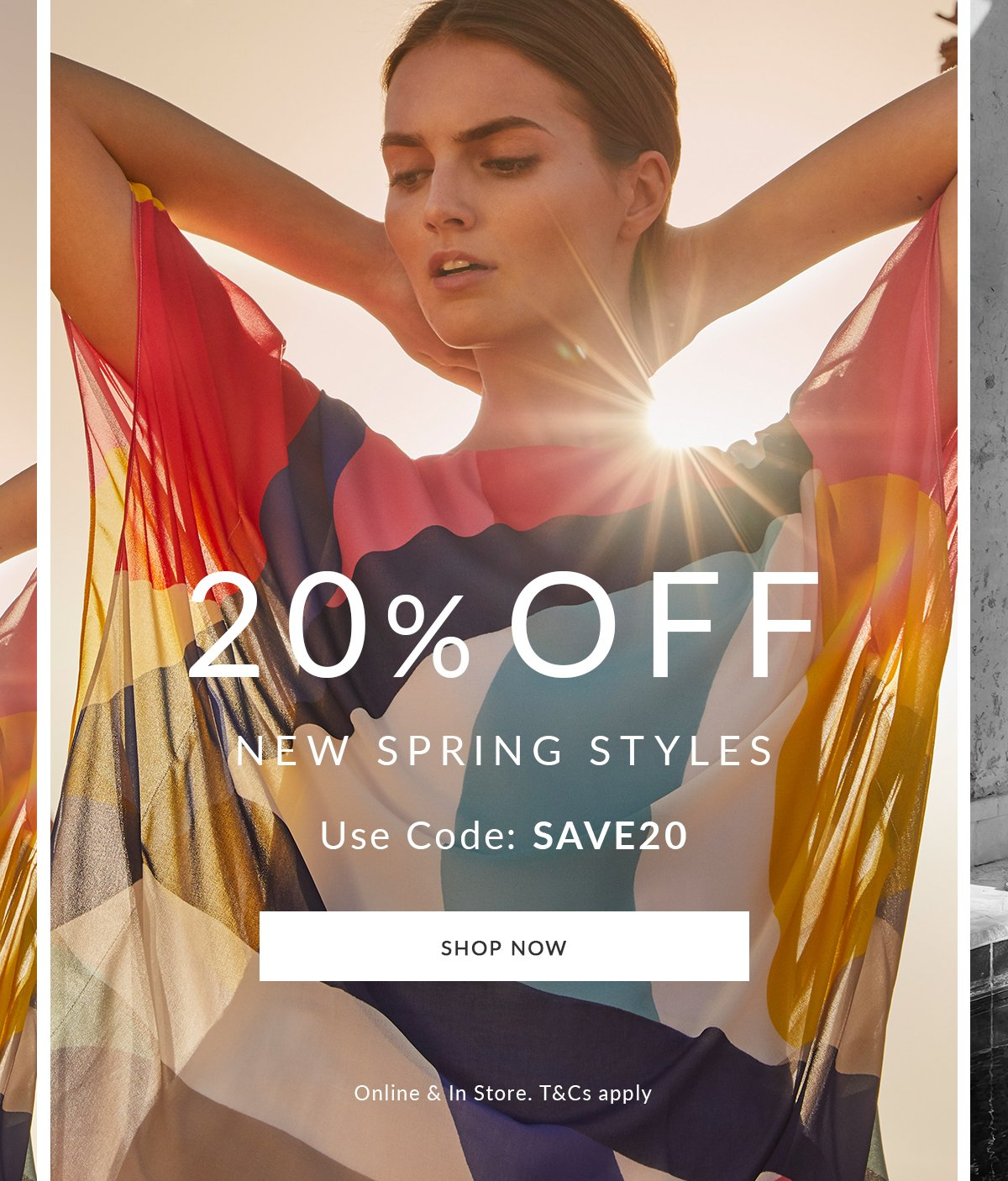 20% off new spring styles | use code: SAVE20 | Shop Now