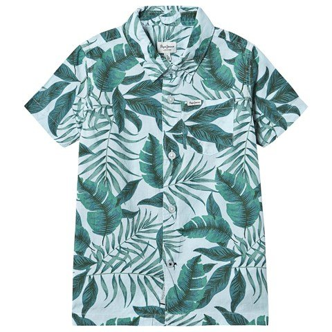 Pepe Jeans Green Floral Eliot Short Sleeve Shirt