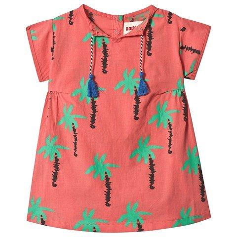 nadadelazos Tan Red Palm Trees Dress