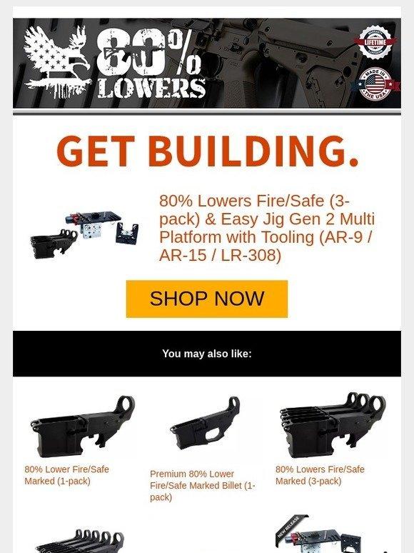 80 Lowers: 80% Lowers Fire/Safe (3-pack) & Easy Jig Gen 2 Multi