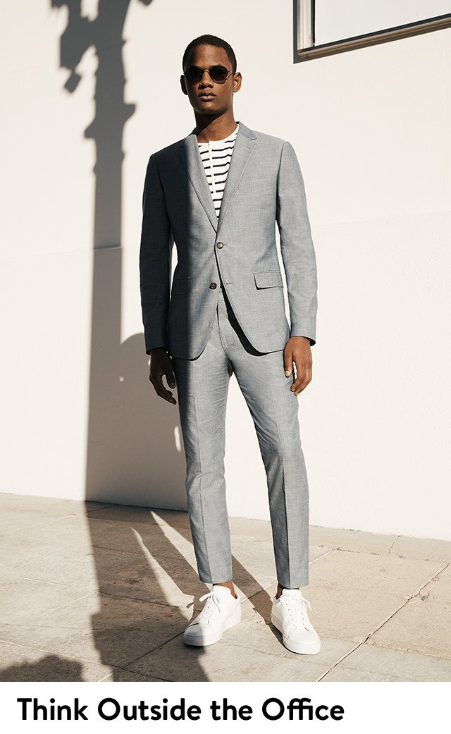 Think outside the office: men's spring suits and suit separates.