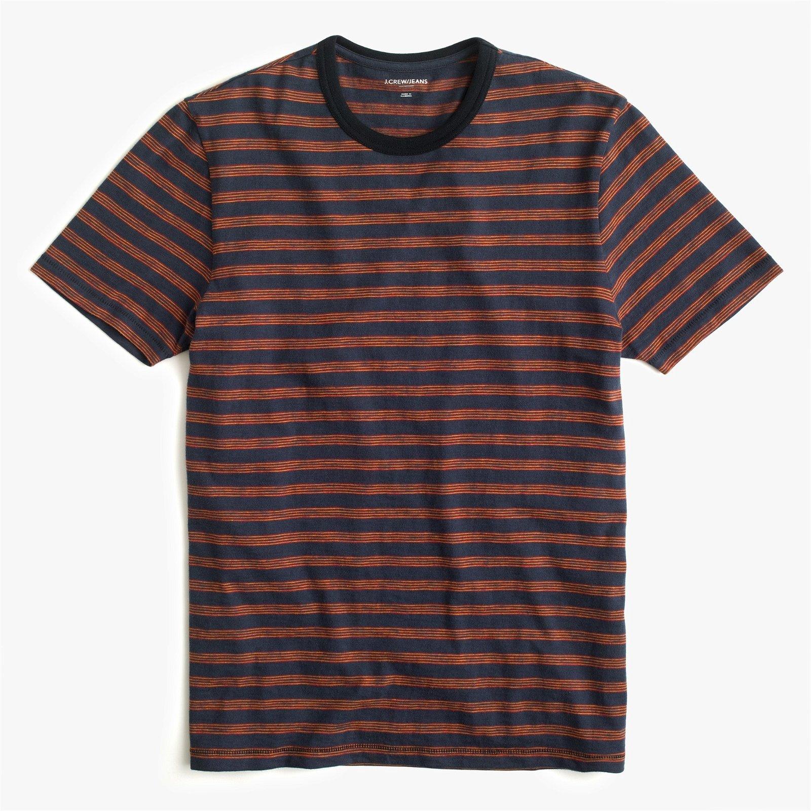 J.Crew Jeans slub jersey T-shirt in broken stripe