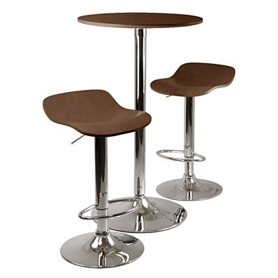 Kallie 3pc Pub Table and Stools Set in Classy Cappuccino Color by Winsome Woods
