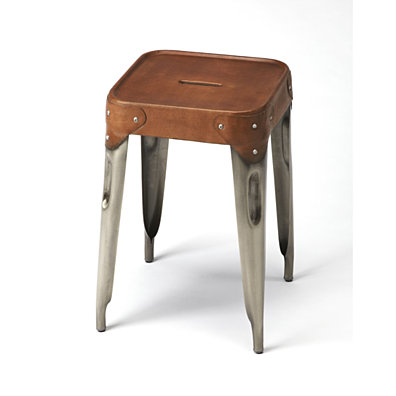 Butler Connor Iron & Leather Counter Stool