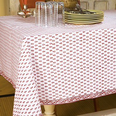 Handmade Classic Crimson Red Table Cloth