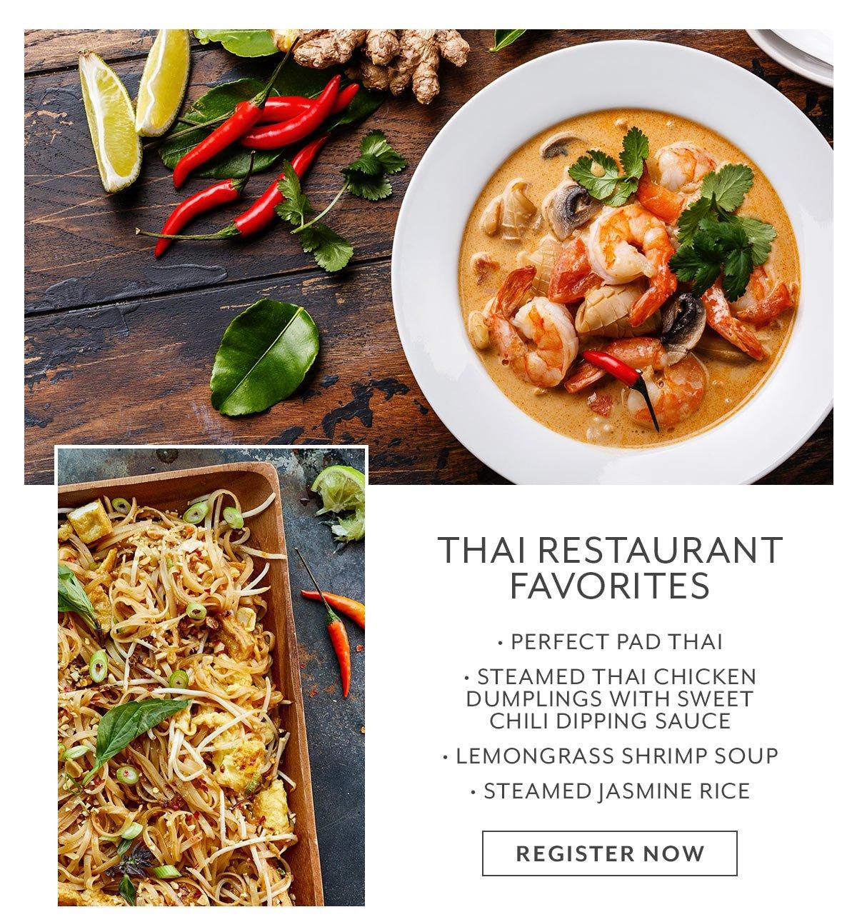 Class: Thai Restaurant Favorites
