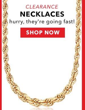Clearance Necklaces. Shop Now