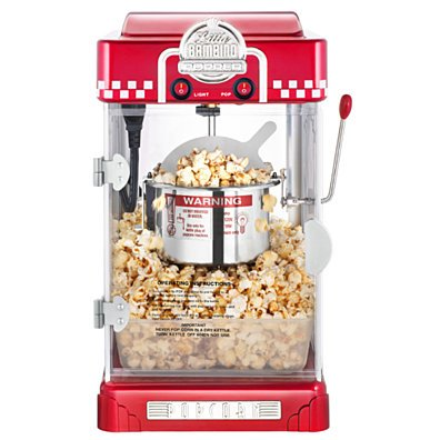 Great Northern Red Little Bambino Table Top Retro Popcorn Popper, 2.5 oz