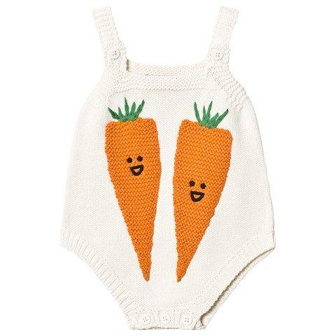 Stella McCartney Kids White Carrot Print Body