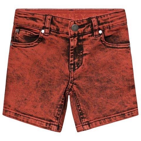 Stella McCartney Kids Red Washed Denim Shorts