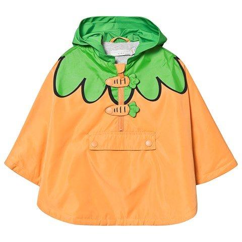 Stella McCartney Kids Orange Carrot Hooded Cape