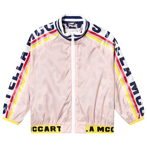 Stella McCartney Kids Pink Stella Logo Taped Track Jacket