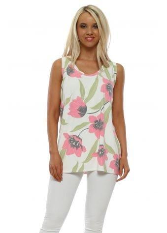 Felina Daisy White Floral Vest