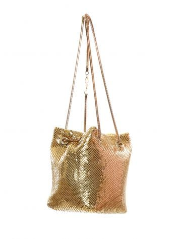 Gold Chainmail Mini Bucket Bag