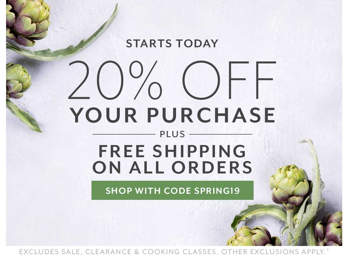 20% Off Your Purchase + Free Shipping on All Orders