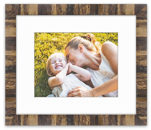 Cute photo of a mom and daughter printed and framed in Elements of Nature natural wood frame.