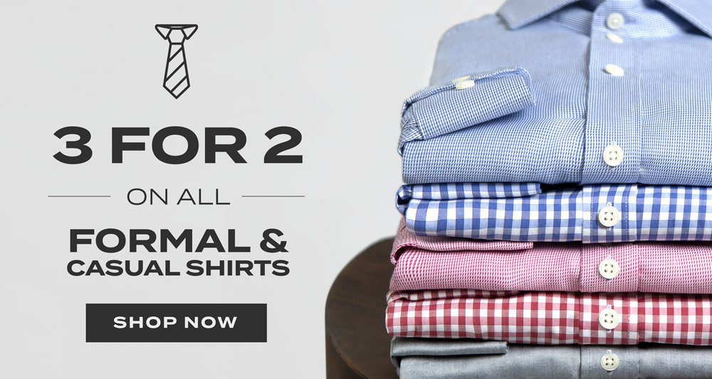 Austin Reed Enjoy 3for2 On All Formal Casual Shirts Milled