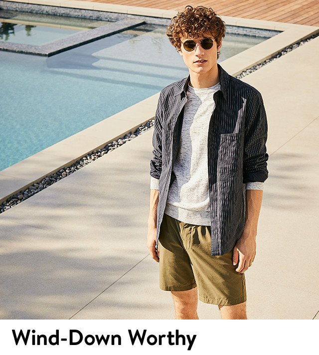 Wind-down worthy men's vacation clothing.